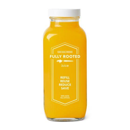 raw cold pressed orange juice